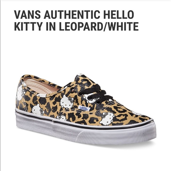 5cd105f1c13ba2 Vans authentic hello kitty 🐱 in leopard 🐆 print